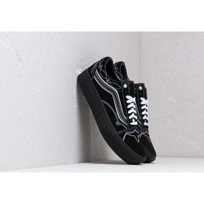 Vans Old Skool Platform (Pearly Punk) Black/ Black