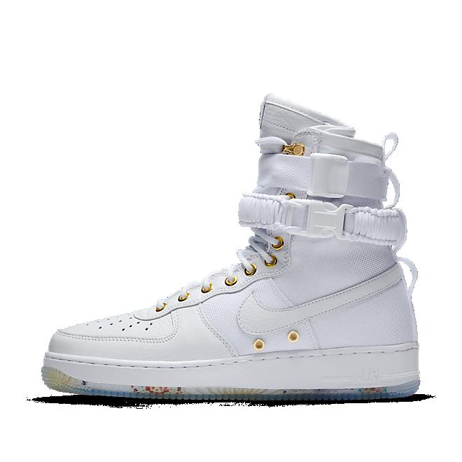 Nike SF Air Force 1 LNY QS White White Metallic Gold | AO9385100