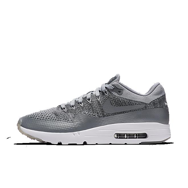Nike Air Max 1 Ultra Flyknit (Wolf Grey/Dark Grey-White)
