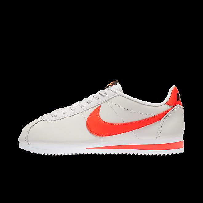 Nike Wmns Classic Cortez Leather (Platinum Tint / Bright Crimson - Bla