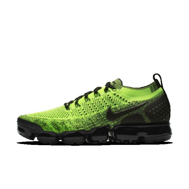 Nike Air Vapormax Flyknit 'Volt' zijaanzicht