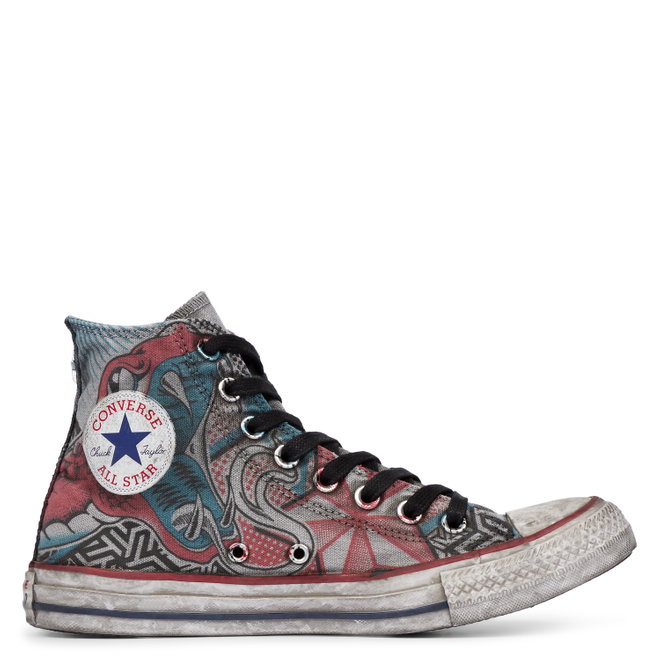 Chuck Taylor All Star Canvas Snake Tattoo High Top