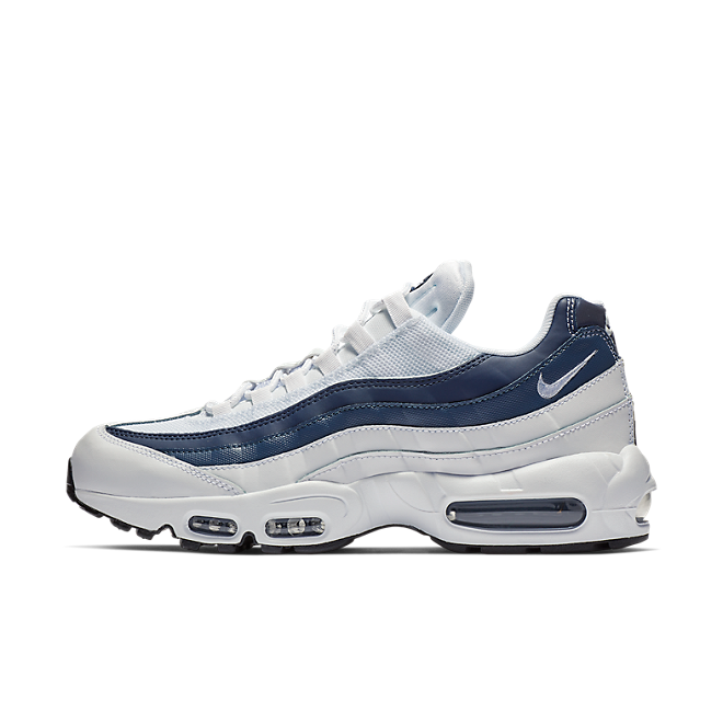 Nike Air Max 95 Essential White White Midnight Navy Monsoon Blue | 749766114