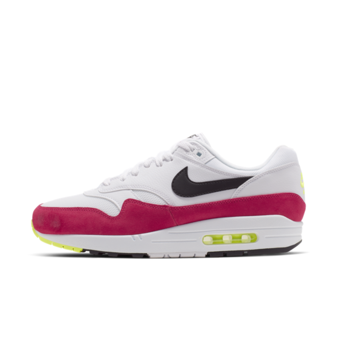 buy online 3a683 053ae Nike Air Max 1  White Black Volt Rush Pink
