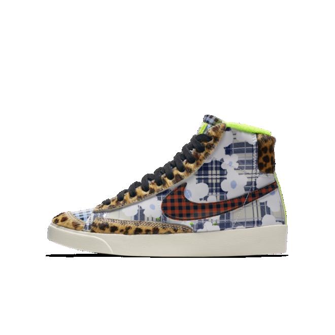 Nike Blazer Mid Gel 'Tartan Leopard' zijaanzicht
