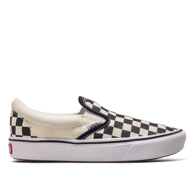 Vans Comfycush Slip On Checkerboard White Black