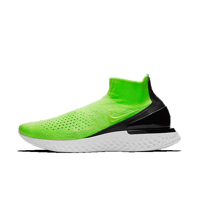 Nike Rise React Flyknit (Lime Blast / Lime Blast - Black - Vast Grey)