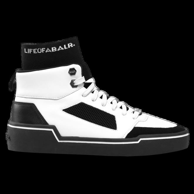 High 1390 BlackBalr White Panelled Top Sneakers BalrMesh LR34q5Aj