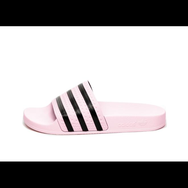 adidas Adilette W (Clear Pink / Clear Pink / Core Black)