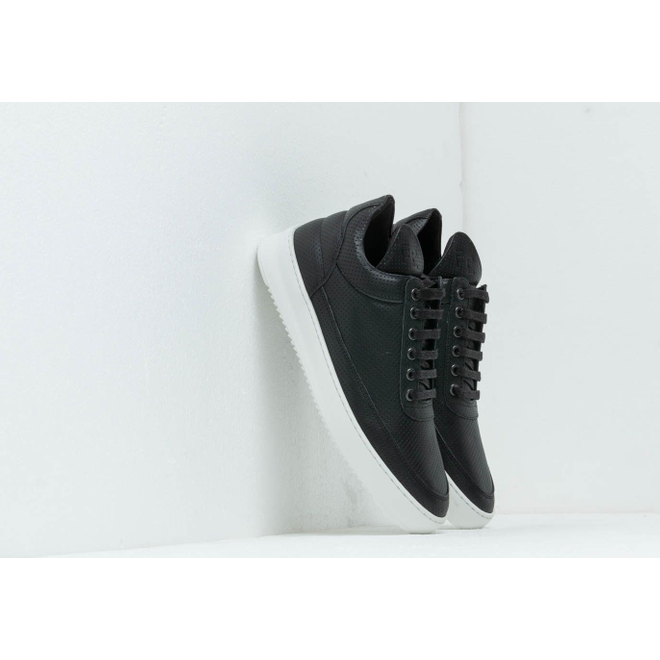 Filling Pieces Low Top Ripple Nappa Perforated Black