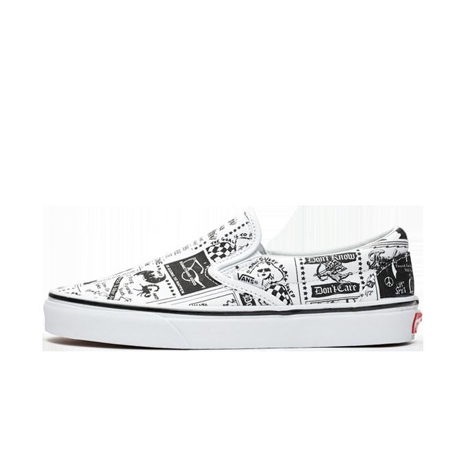 Vans Classic Slip On X Ashley Williams 'News Paper' | VN0A38F7SFG