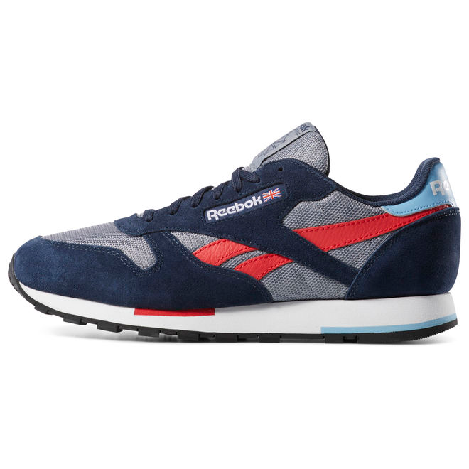 Reebok Classic Leather MU (Cold Grey / Navy / White)