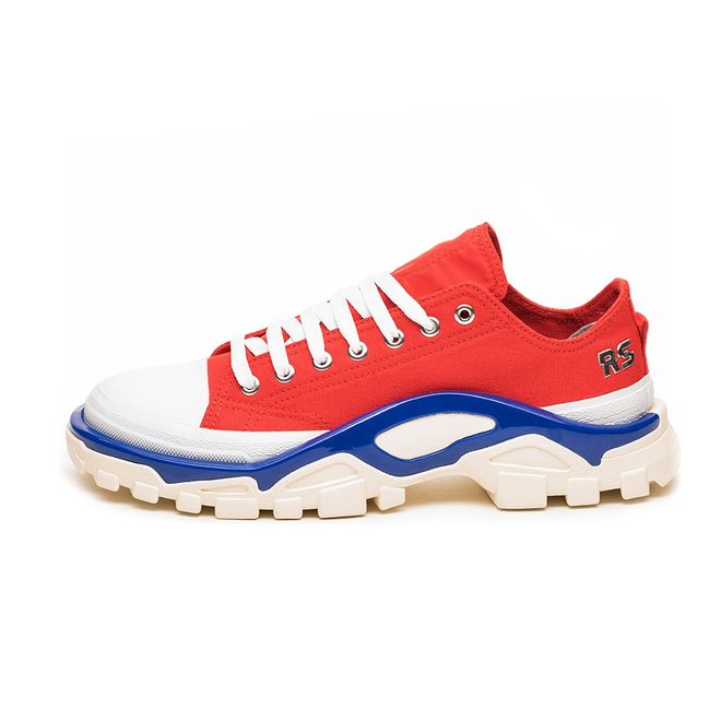 adidas x Raf Simons Detroit Runner (Red / Silver Metallic / Bold Blue)