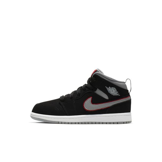Air Jordan 1 Mid Kleuterschoen - Zwart