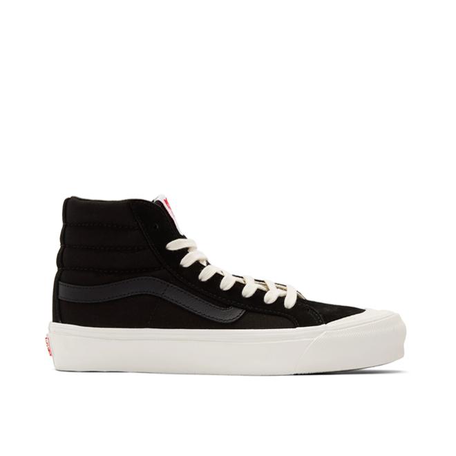 Vans OG Style 138 LX (Suede/ Canvas) Black/ Checkerboard