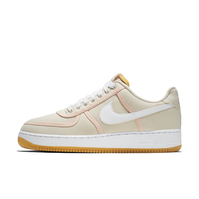Nike Air Force 1 '07 Premium Canvas 'Light Cream' zijaanzicht