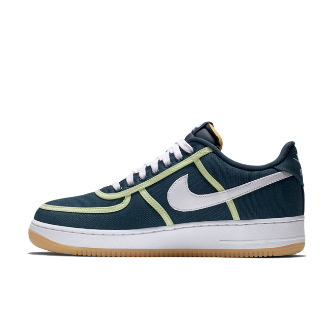 Nike Air Force 1 '07 Premium Canvas 'Armory Navy' zijaanzicht