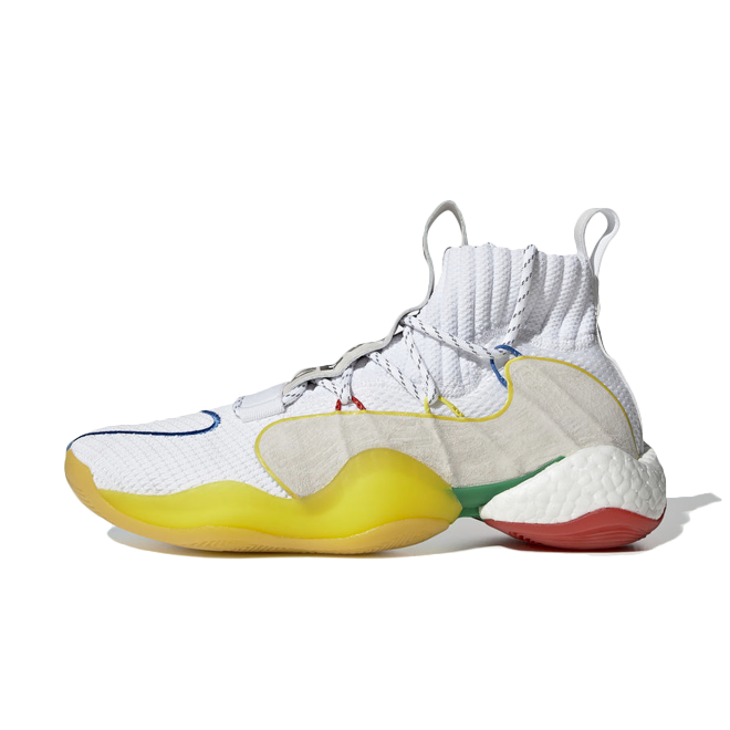 adidas x Pharrell Williams Crazy BYW LVL 'Ftwr White' zijaanzicht