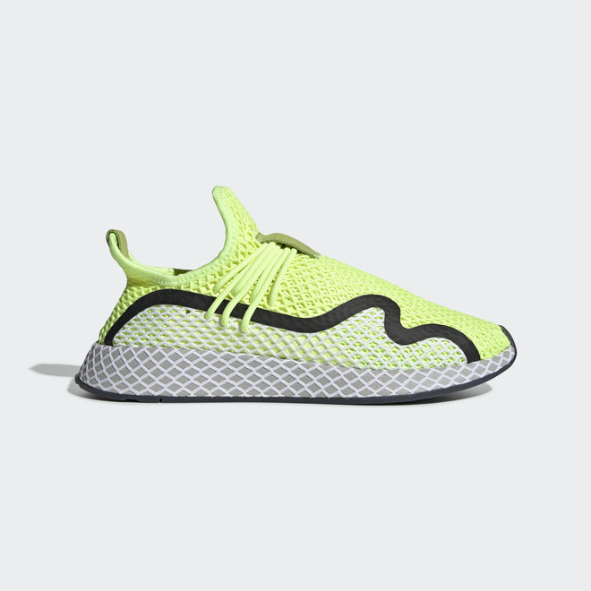 adidas Deerupt S Hi-Res Yellow/ Core Black/ Ftw White