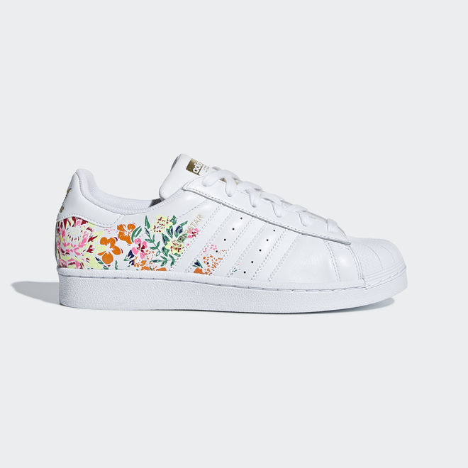 adidas Superstar Flower Embroidery Women Shoes