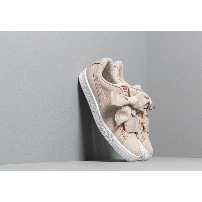 Puma Basket Heart Woven Rose Wn s Silver Gray-Puma White