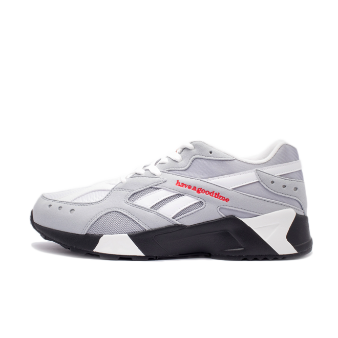have a good time X Reebok Aztrek 'Cold Grey' zijaanzicht