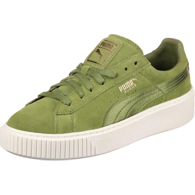 Puma Suede Platform Satin | 365828 002 | Sneakerjagers