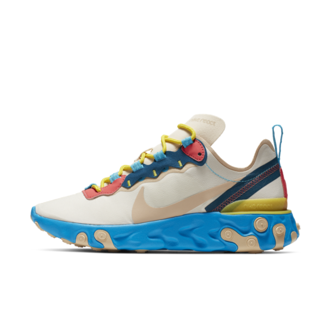 Nike WMNS React Element 55 'Light Cream' zijaanzicht