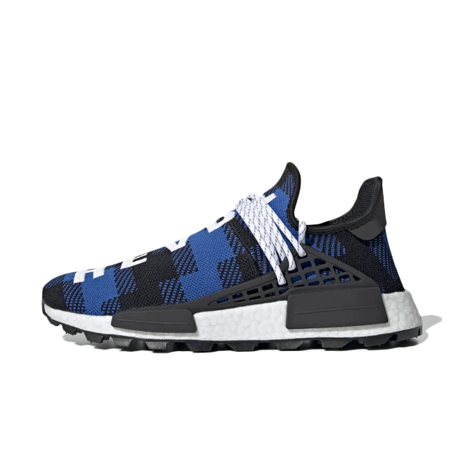 Pharrell Williams X BBC X adidas Hu NMD 'Power Blue zijaanzicht